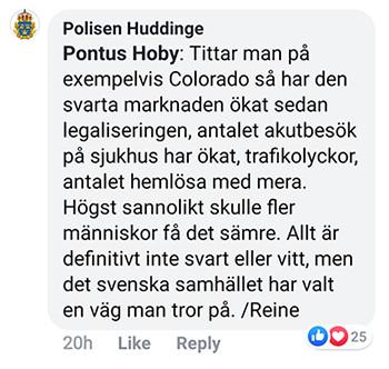 Reine Berglund Polisen Huddinge